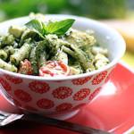 Artichoke, Feta, Basil Pesto & Fresh Tomato Pasta