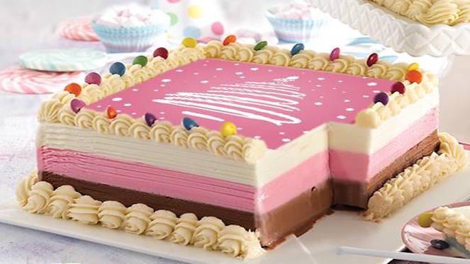 Milky Lane Ice Cream Cake