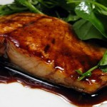 Bourbon-Glazed Salmo...