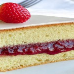 A Decadent Strawberry Vanilla Sponge Cake