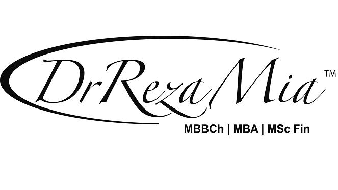 Dr Reza Mia logo black