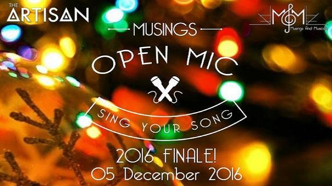 #MusingsOpenMic Festive Finale