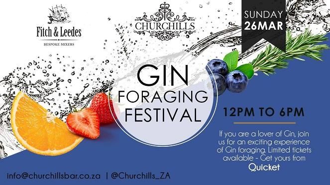 Churchills Bar Gin Foraging Festival