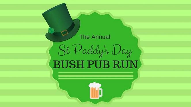 Saint Paddys Day Bush Pub Run