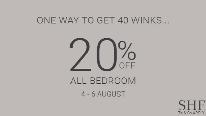 Get More Than 40 Winks With SHF's Amazing Offer