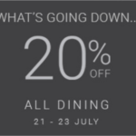 Come & Dine With SHF For 20% Less