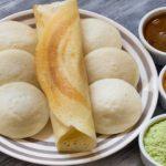 Eating South Indian Food At Saravanaa Bhavan