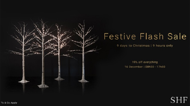 Find the Perfect gift at the SHF Festive Flash Sale