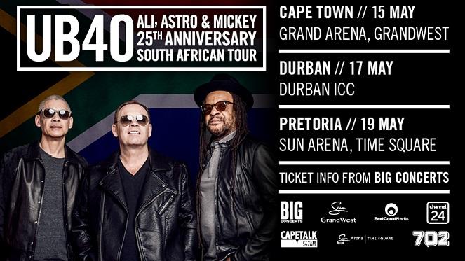 UB40's 25th SA anniversary tour ft. Ali, Astro & Mickey