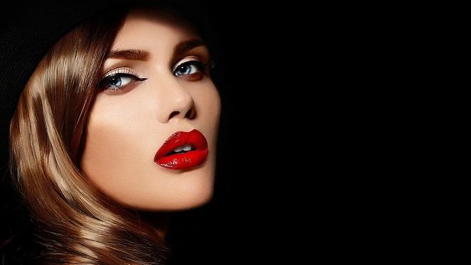 All Black, Red Lipstick
