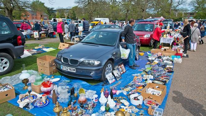 Car Boot Sale At Rosebank Sunday Market